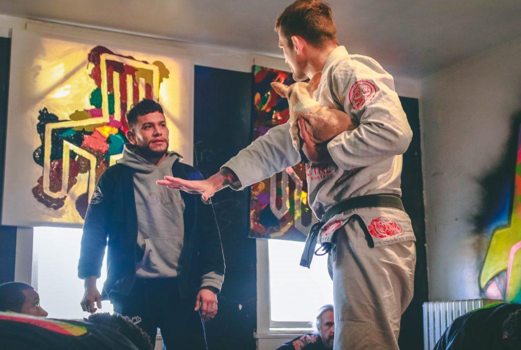Andris Brunosvskis and Ben Jammin at Highstyle Jiu Jitsu