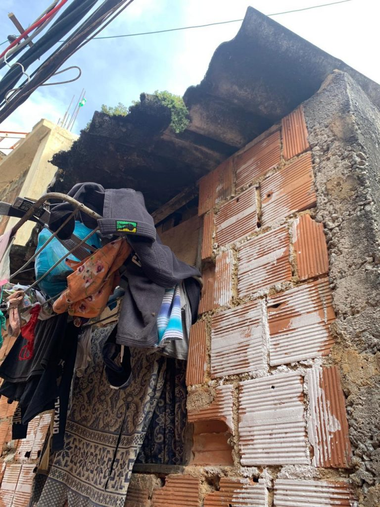 Kimono drying in favela