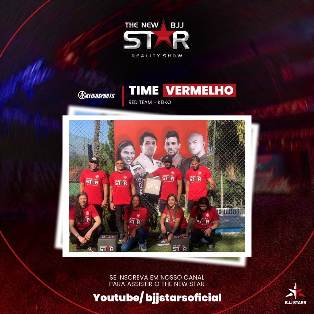 BJJ Stars Time Vermelho